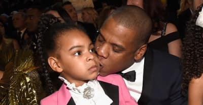 Blue Ivy Showed Up To The 2017 Grammys Dressed In A Pink Suit To Pay Tribute To Prince