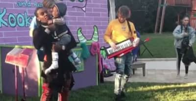 Watch Offset debut an adorable birthday song at his son's party