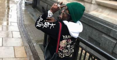 Did Lil Uzi Vert really write his Instagram login on a bathroom wall?