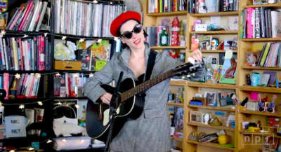Watch St. Vincent's Tiny Desk Concert