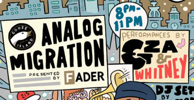 GZA And St. Lucia To Headline The FADER And Goose Island's Analog Migration Parties