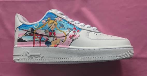 the latest a1c66 0dcb6 Jyn Waye s hand-painted Air Force 1s belong in the MoMA   The FADER
