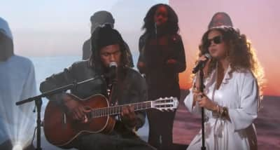 Watch Daniel Caesar and H.E.R. perform on Jimmy Kimmel Live