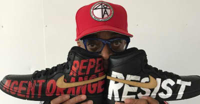 Check Out Spike Lee's Custom Anti-Trump Black History Month Air Jordan 1s