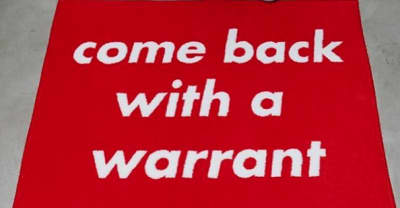 "NEIGHBORHOOD And FUCT Are Selling A ""Come Back With A Warrant"" Door Mat"