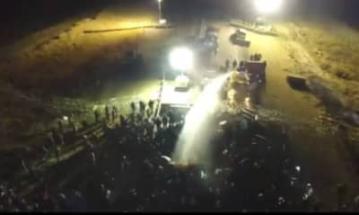 Report: Water Cannons, Tear Gas Used At Standing Rock Protests