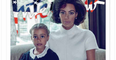 Kim Kardashian West Poses As The First Lady