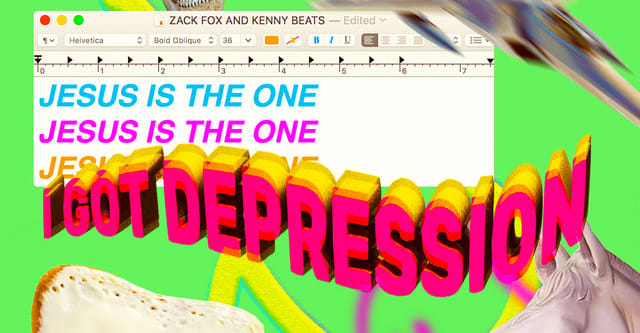 """Zack Fox and Kenny Beats combine on the hilarious """"Jesus Is The One (I Got Depression)"""""""