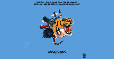 "Listen to the all-star ""Gucci Gang"" remix featuring Gucci Mane and 21 Savage"