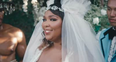 "Lizzo marries herself in ""Truth Hurts"" video"