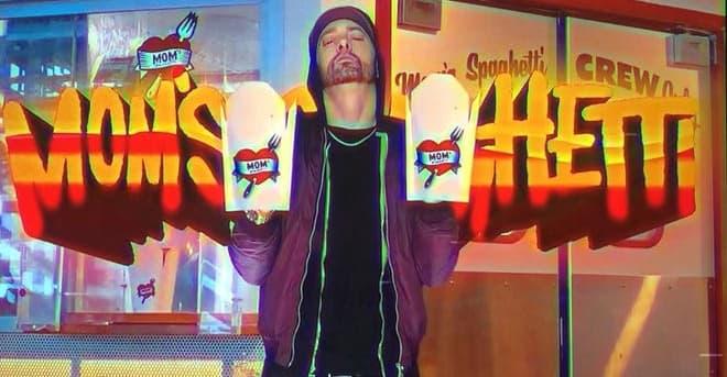 "Eminem is opening a spaghetti restaurant called ""Mom's Spaghetti"""