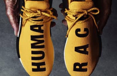 "Pharrell's Adidas NMD ""Human Race"" Kicks Are Dropping Tomorrow."