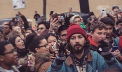 Watch Shia LaBeouf Shout Down A White Supremacist Who Interrupted His New Performance Art Piece