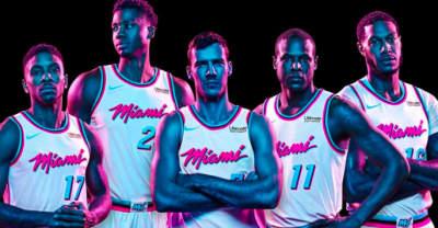 Miami HEAT debuts Miami Vice-themed uniforms
