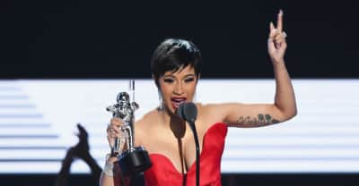"Cardi B thanks fans at the VMAs: ""That's something money can't buy, bitch"""
