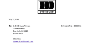 Drake actually sent that invoice to Pusha T