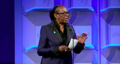 Gloria Carter, JAY-Z's mother, accepts the GLAAD Special Recognition award