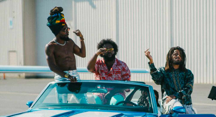 """J. Cole, J.I.D, Bas, Young Nudy, and EarthGang link in Atlanta in their new """"Down Bad"""" video"""