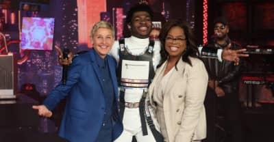 "Watch Lil Nas X perform ""Panini"" on Ellen"