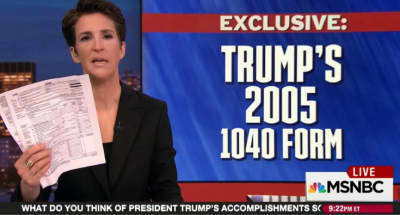 Rachel Maddow Released Donald Trump's 2005 Tax Returns