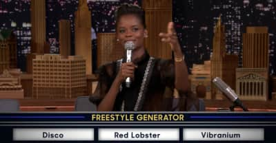 Watch Black Panther star Letitia Wright freestyle about vibranium