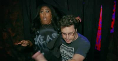 Watch a terrified Lizzo twerk through a haunted house on Ellen