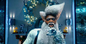 "Lil Nas X is a futuristic Santa Claus in his ""Holiday"" video"