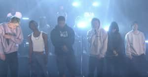 "Watch BROCKHAMPTON's The Tonight Show performance of ""DISTRICT"""