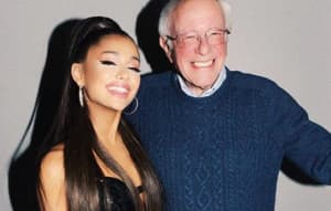 Bernie Sanders went to an Ariana Grande concert