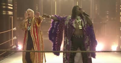 "Watch Offset & Metro Boomin perform ""Ric Flair Drip"" with the real Ric Flair"