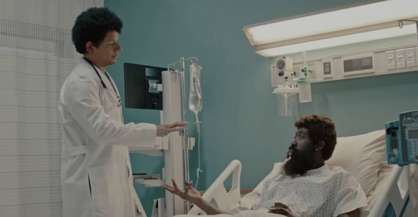 "Watch Eric Andre heal Freddie Gibbs in the music video for ""Half Manne Half Cocaine"""