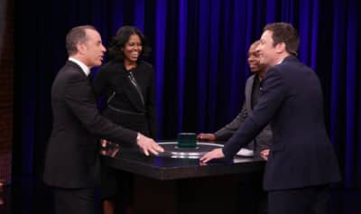 """Watch Michelle Obama Play """"Catchphrase"""" With Dave Chappelle On The Tonight Show"""