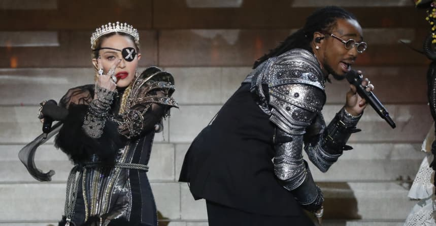 "Watch Madonna and Quavo perform ""Future"" at Eurovision"