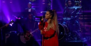 "Watch Ariana Grande perform ""imagine"" with The Roots on The Tonight Show"
