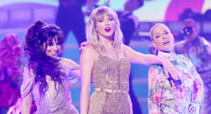 Halsey and Camila Cabello join Taylor Swift for career-spanning AMAs medley