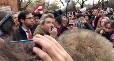 Ad-Rock Speaks At Anti-Hate Rally In Adam Yauch Park