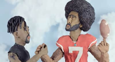 "Open Mike Eagle meets claymation Colin Kaepernick in ""Microfiche"" video"