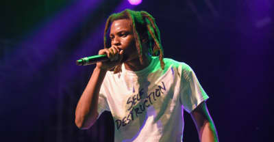 "Denzel Curry performing in wheelchair after ""going too crazy"""