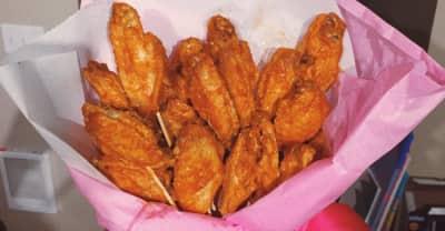 J'Von Got His Special Lady A Chicken Wing Bouquet For Valentine's Day