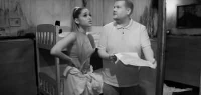 Watch Ariana Grande and James Corden get scared shitless at a haunted escape room