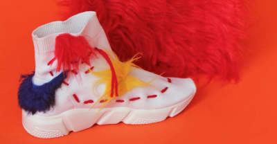 Uzumaki Cepeda brings her playful faux fur vibe to her new line of footwear