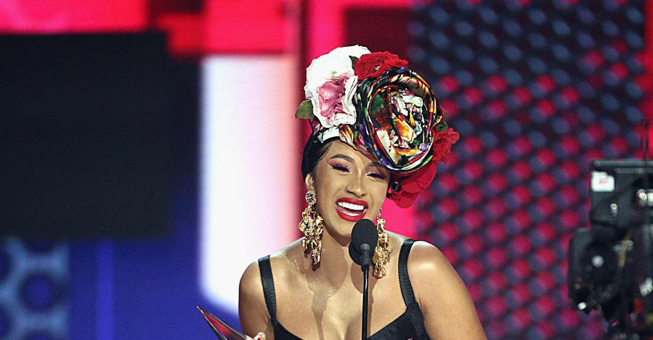 Cardi B gives out clothing in Brooklyn