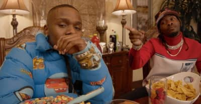 "DaBaby and Offset misbehave in their ""Baby Sitter"" video"