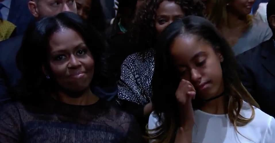 Watch President Obama's Heartfelt Tribute To Michelle During His Farewell Address