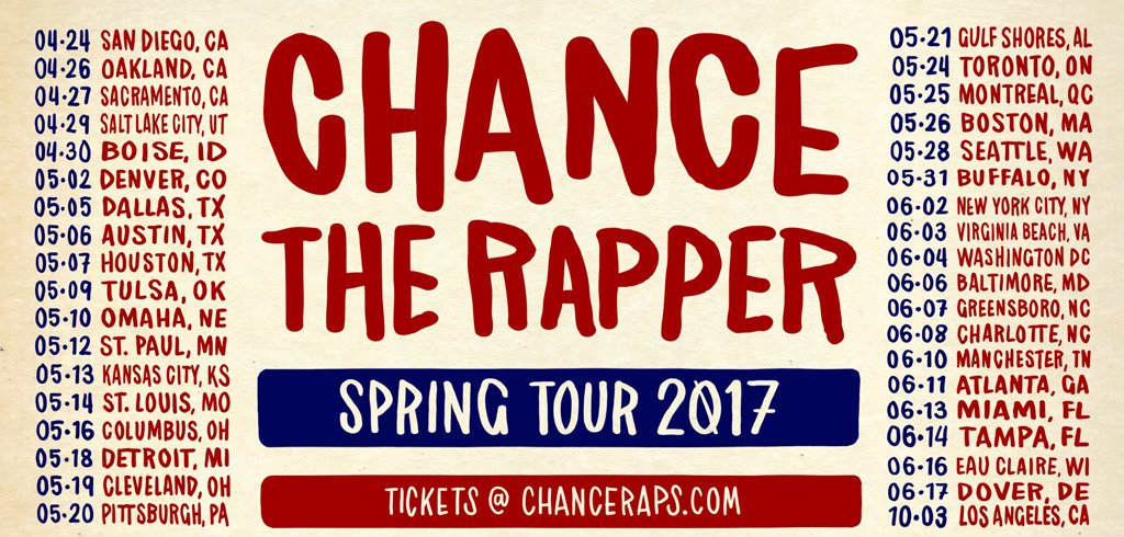 Chance the rapper tour dates in Brisbane