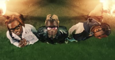 "Watch Young Thug's video for ""Hot"" featuring Gunna and Travis Scott"