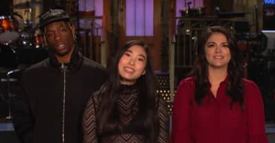 Watch a new SNL promo with Travis Scott and Awkwafina