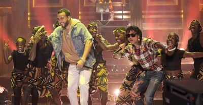 "Watch French Montana And Swae Lee Perform ""Unforgettable"" On The Tonight Show"