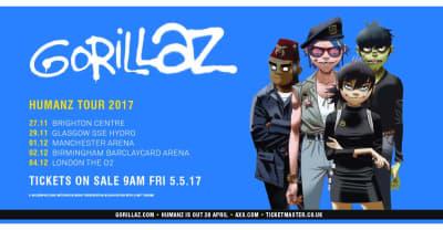 Gorillaz Announce U.K. Arena Tour Dates