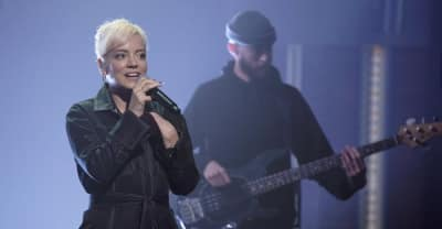 "Watch Lily Allen perform new song ""Three"" on Late Night"